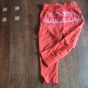 Orange Zara harem pants